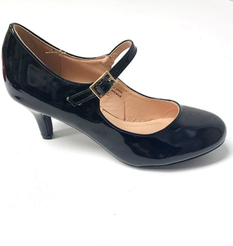 Mila Vintage Shoe - Black Shiny