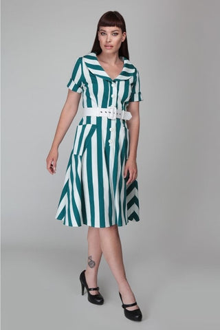 Brida Stripe Swing Dress