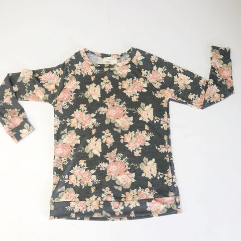 Rainey Top - Gray Floral
