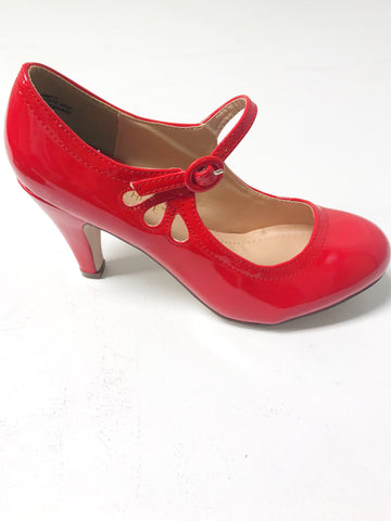 Kayla Vintage Shoe - Shiny Red
