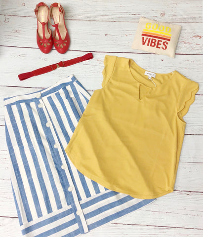 Loretta Top - Yellow