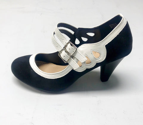 Elsie Vintage Shoe - Black/White