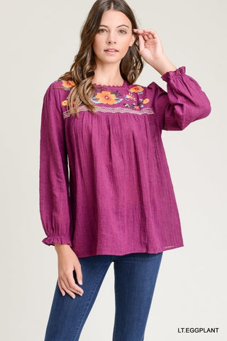 Lora Embroidered Top