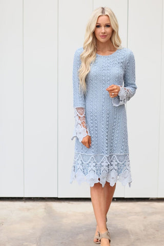 Lydia Dress - Light Blue
