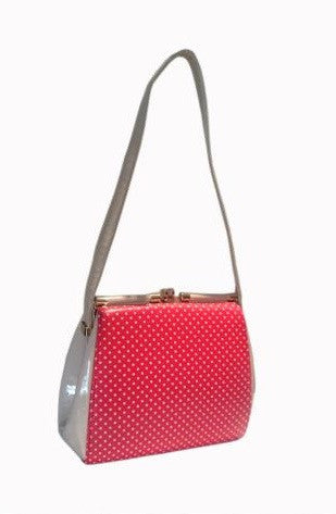 Polka Dot Retro Purse - Red/Cream