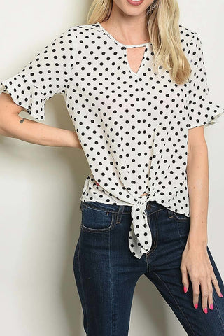 Meghan Polka Dot Top