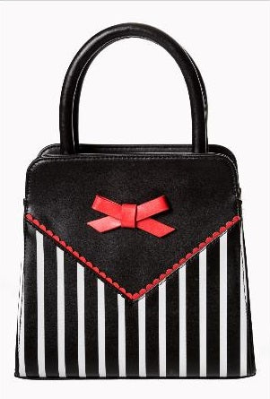 Striped Bow Purse