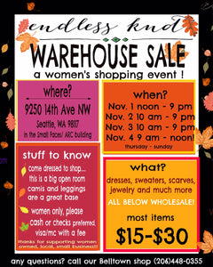 See you at the Warehouse Sale!
