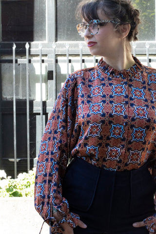 Mosaic Button Top
