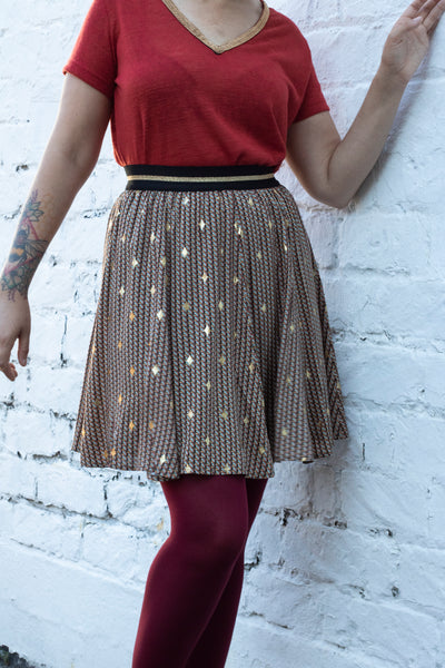 Fan Gold Skirt