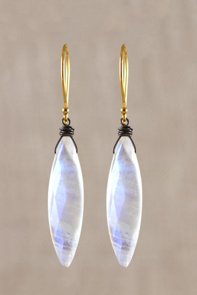Marquis Moonstone Earring