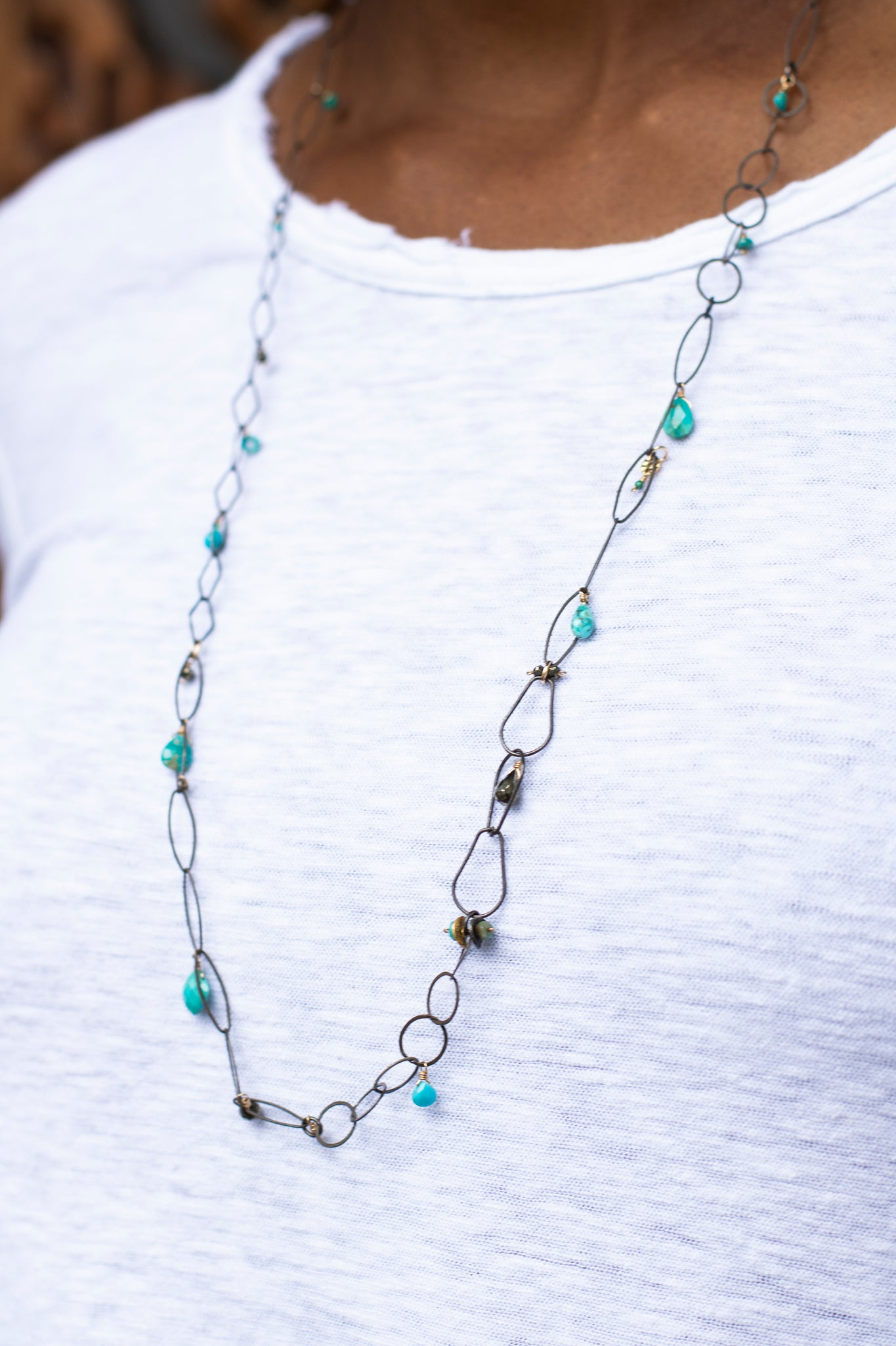 Long Mixed Chain Necklace