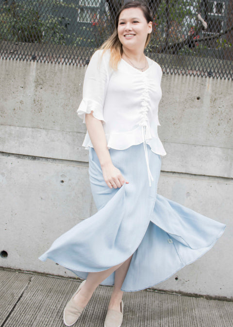Tencel Wrap Skirt