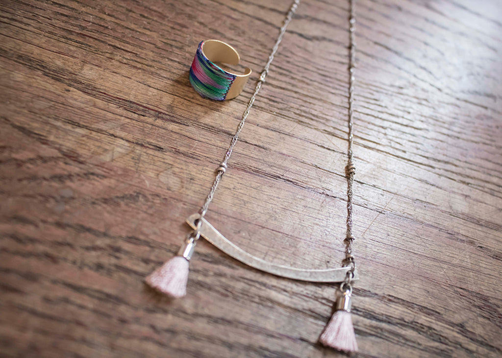 Two Tassle Necklace