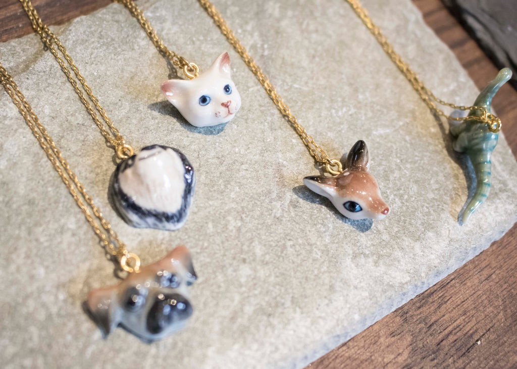 Porcelain Animal Necklace