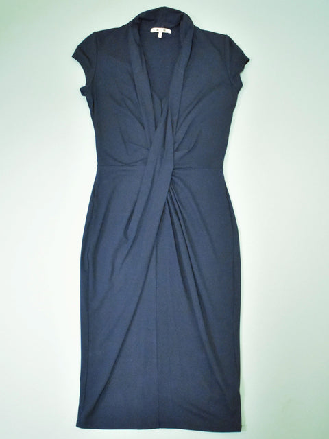Draped V Neck Dress