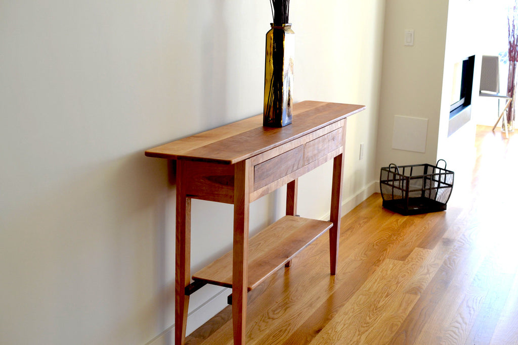 Wood Side Table, Birch Side Console