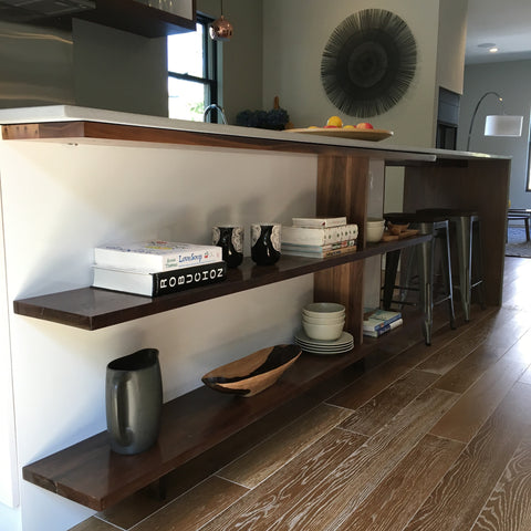 Walnut Accents to an IKEA® kitchen
