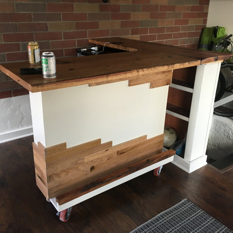 Custom Reclaimed Oak Bar