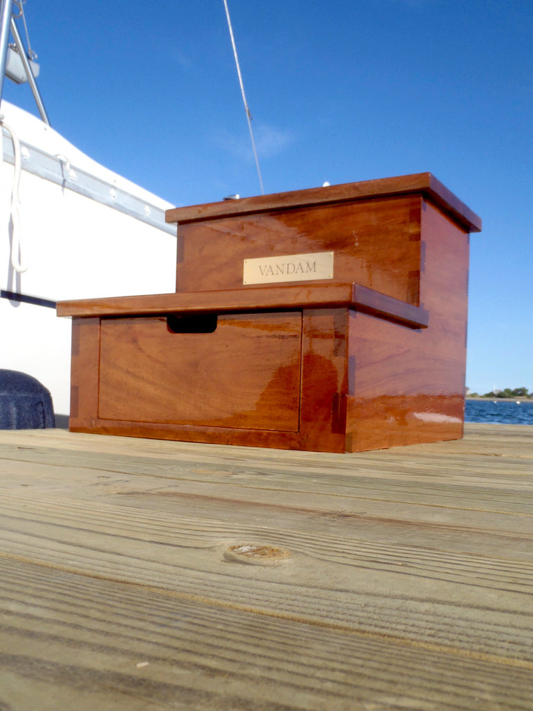 Dovetail Yacht Steps, Mahogany, 2 Step