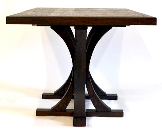 Oak Dining Table, Double Pedestal