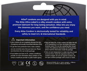 Atlas Ultra-Lubed Condoms, 12pks, Case of 48 (8 Bundles of 6)