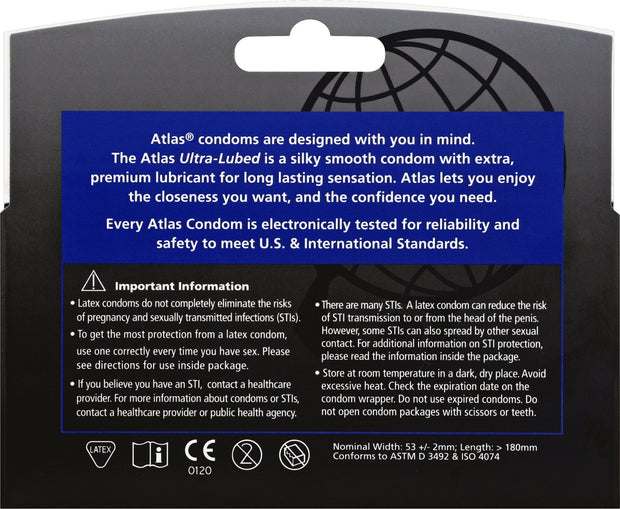 Atlas Ultra-Lubed 12pks, Case of 48 (8 Bundles of 6)