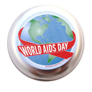 World AIDS Day Silver Condom Cases,  Bag of 10