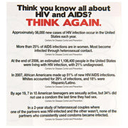 HIV/AIDS Awareness Pamphlets,  Pack of 100