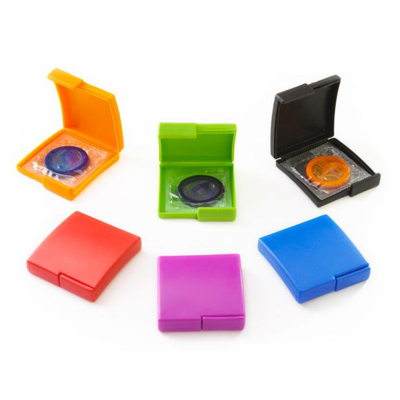Assorted Color Contour Compacts,  Bag of 10