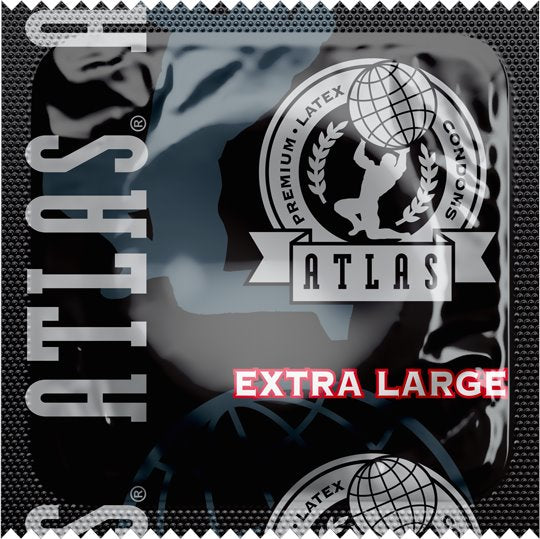 Atlas® Extra Large Condoms,  Case of 1000