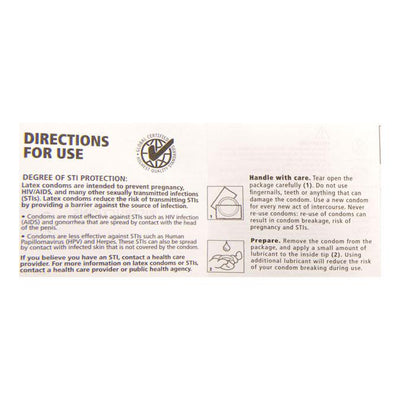 Condom Instructions, Pack of 100