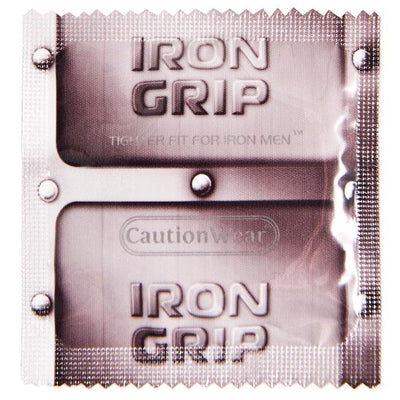 Caution Wear Iron Grip Snug Fit Condoms, Case of 1000