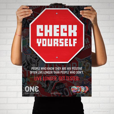 "ONE® Street Art Collection Poster, ""CHECK YOURSELF"""