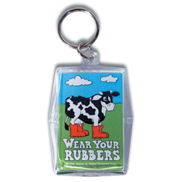 Wear Your Rubbers (Cow Graphic) Condom Keyper, Bag of 10