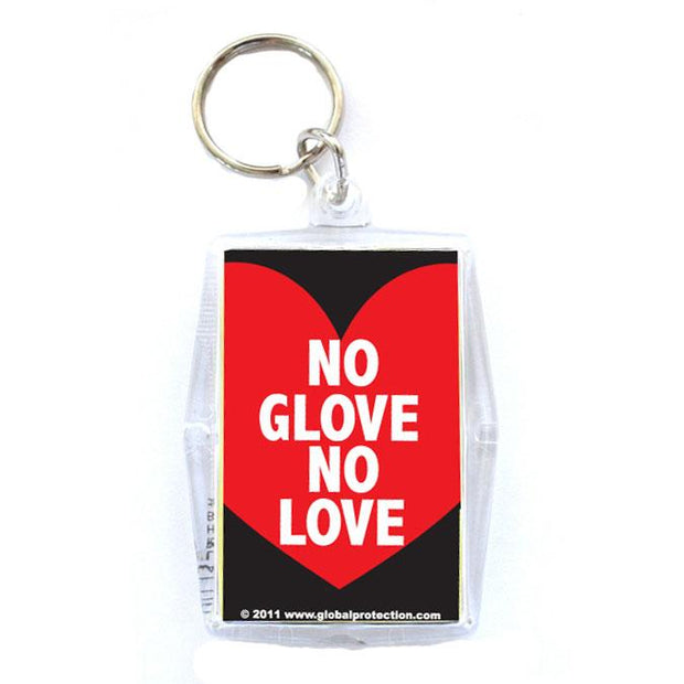 No Glove, No Love Condom Keyper, Bag of 10