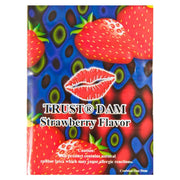 LIXX Strawberry Latex Dental Dams,  Box of 100