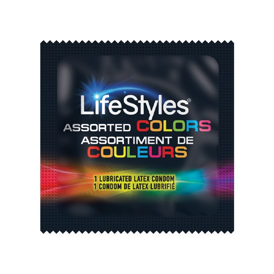 LifeStyles Assorted Colors, Case of 1,000