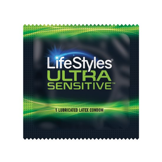 LifeStyles Ultra Sensitive Condoms, Case of 1,000
