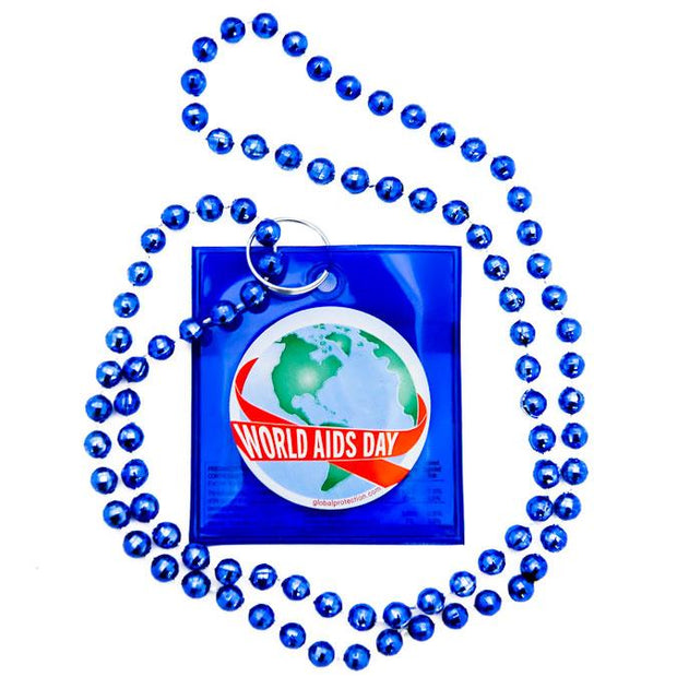 World AIDS Day Condom Beads,  Box of 36