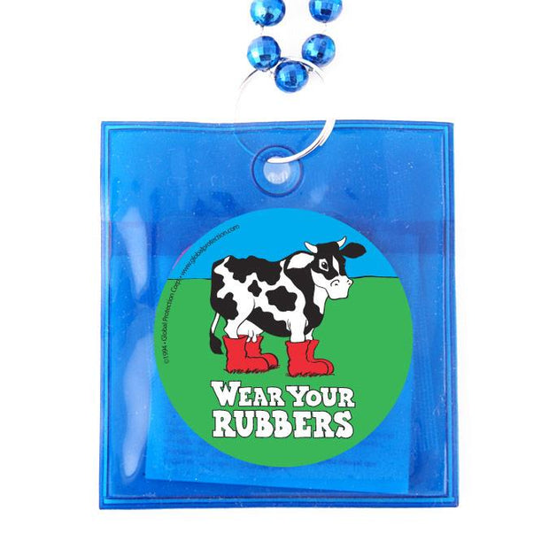Wear Your Rubbers Condoms Beads,  Box of 36