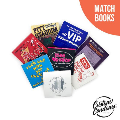 Custom Condom Matchbooks