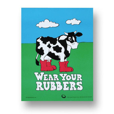 Wear Your Rubbers Poster