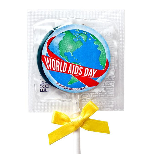 World AIDS Day Condom Pops,  Bag of 50