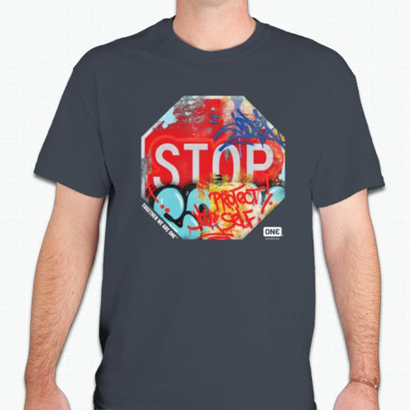 ONE® Street Art Collection T-shirt - Protect Yourself""
