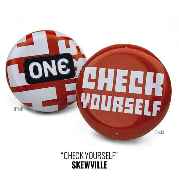 "ONE Street Art Collection Condom Carrying Tins, ""Check Yourself,"" bag of 10"
