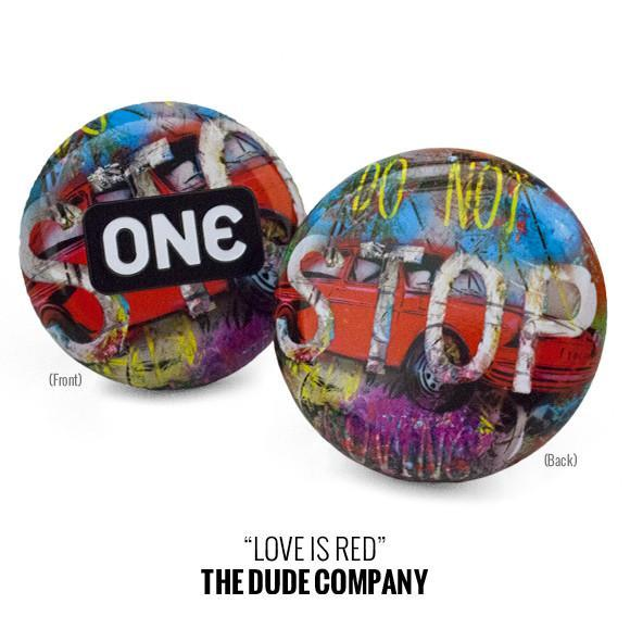 "ONE Street Art Collection Condom Carrying Tins, ""Love is Red"", bag of 10"