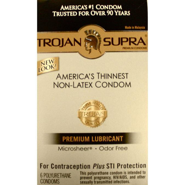 Trojan SUPRA Lubricated 6pks,  Bundle of 4