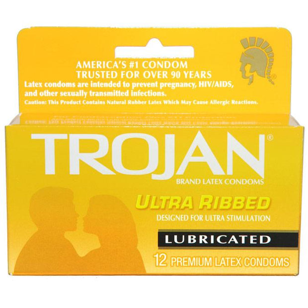 Trojan Ultra Ribbed 12pks,  Bundle of 4
