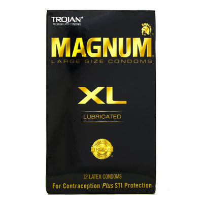 Trojan Magnum XL 12pks,  Bundle of 4